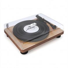 Auna TT Classic WD placă turnantă retro USB linie furnir de lemn out Vorbitor