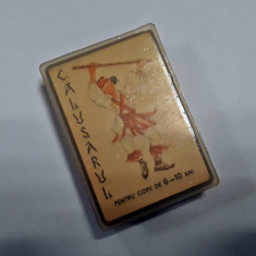 Joc de Carti Romanesc Vechi Comunist Complet la Cutie - CALUSARUL - nejucat - Joc colectie