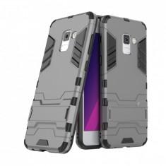 Husa hibrid g-shock pentru Samsung Galaxy A8 2018, gri - Husa Telefon