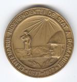 CENTENARUL INDEPENDENTEI de STAT  a ROMANIEI 1877-1977 Medalie MILITARA