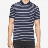 Tricou polo Calvin Klein Jeans Striped S M L (ultima colectie) - Tricou barbati Tommy Hilfiger, Culoare: Din imagine, Maneca scurta, Bumbac