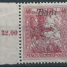 1919 Romania- Emisiunea Oradea 40 BANI ajutor de razboi-MNH - Timbre Romania, Nestampilat