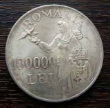 (A121) MONEDA DIN ARGINT ROMANIA - 100.000 LEI 1946, REGELE MIHAI I