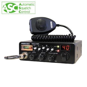 Resigilat : Statie radio CB President Walker ASC, cu squelch automat cod TXMU100 foto
