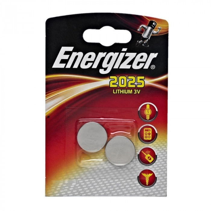 2x Blister Energizer CR2025 Lithium battery BL117 foto mare