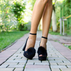 Sandale dama Cinderella negre, Culoare: Negru, Marime: 35, 36, 37, 38, 39, 40