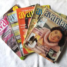 Lot de 5 Reviste AVANTAJE nr. 2 si 11/1996, 4/1997, 8/1998 si 3/1999 cu tipare
