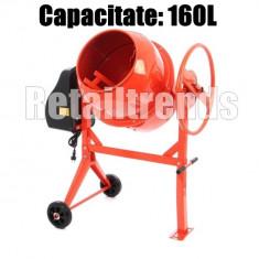Betoniera 160 Litri 650w Coroana Fonta Constructie - NOU - GARANTIE, 120 L