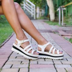 Sandale dama Yvy albe, Marime: 36, 37, 38, 40