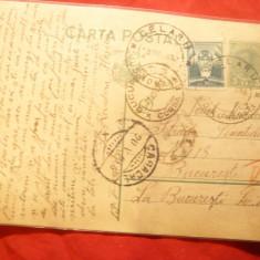Carte Postala cu 3 lei Carol II marca fixa ,circ.Celaru jud.Romanati-Bucuresti