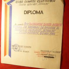Diploma- Casa Armatei Cluj-Napoca acorda Titlu de Membru de Onoare al Cercului