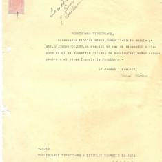 527 DOCUMENT VECHI -FLORICA BASCA CERE ELIBERARE DIPLOMA BACALAUREAT -1945