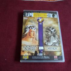 DVD PERSONALITATI CARE AU MARCAT ISTORIA LUMII - LUCREZIA BORGIA / ATTILA - Film documentare, Romana