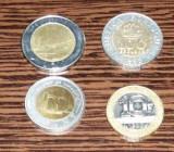 MONEDE BIMETALICE-10 FRANCI 1992,100 FORINTI 1997,100 ESCUDOS 1998,500 LIRE 1983, Europa