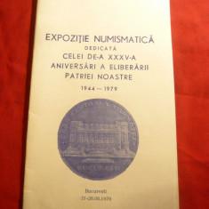 Carnet -Reclama -Expozitia Numismatica -la a 35a Aniv. a Eliberarii Patriei 1971