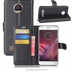 Husa Motorola Moto Z2 PLAY portofel carte flip magnetic cu suport carduri bani - Husa Telefon, Negru