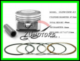 PISTON 250cc 250 LIFAN LONCIN ZONGSHEN 4T 67.5MM bolt 16MM R1 CG250 CB250