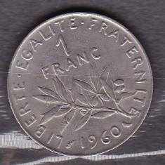 FRANTA 1960 - MONEDA 1 FRANC, Europa