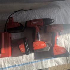 Set autofiletante cu acumulator Hilti 12V