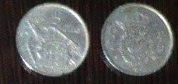 SPANIA 5 PTAS - LOT 2 MONEDE 1957, 1975