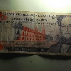 Venezuela 50 bolivari 1998