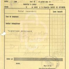 525 DOCUMENT VECHI -CHITANTA 5066 - TAXA  DIPLOMA DE  BACALAUREAT -1945