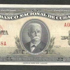 CUBA 50 PESOS 1950 [1] P-81a, VF+ / XF - bancnota america