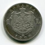 1 leu 1900, Carol 1, Argint