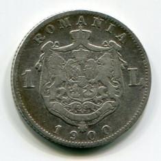 1 leu 1900, Carol 1, Argint - Moneda Romania