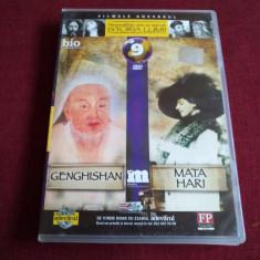 DVD PERSONALITATI CARE AU MARCAT ISTORIA LUMII - GENGHISHAN / MATA HARI - Film documentare, Romana