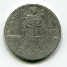 1 leu 1910 Carol 1, Argint - Moneda Romania