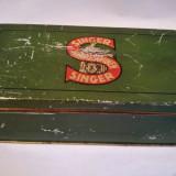 Cutie de tabla accesorii masina de cusut Singer Nahmaschinen 66, veche, colectie