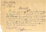 Z495 DOCUMENT VECHI-GRUPUL SCOLAR MOVILA MIRESEI-ADEVERINTA-MUNCA DE RAZBOI-1942