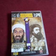DVD PERSONALITATI CARE AU MARCAT ISTORIA LUMII - OSAMA BIN LADEN / MARCO POLO - Film documentare, Romana