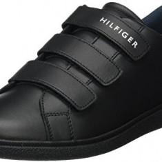 Adidasi Tommy Hilfiger Men's Danny 3a Low-Top Slippers marimea 44 si 45 - Adidasi barbati Tommy Hilfiger, Culoare: Negru, Piele naturala