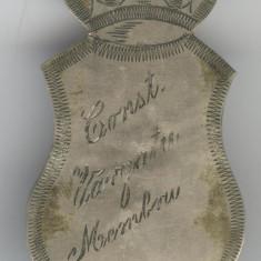 Insigna regala anii 1930's - Intrunire Organizatie - gravat nume participant