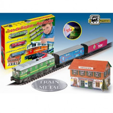 Trenulet Pequetren Electric cu Far si Macheta