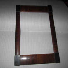 Rama mica anii 1920 din lemn fara defect int 165x110mm rar acest model carte - Rama Tablou, Decupaj: Dreptunghiular