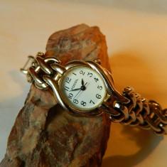 Ceas de dama Fossil din otel, cod f7 - Ceas dama Fossil, Casual, Quartz, Inox, Piele, Analog