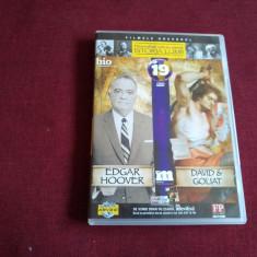 DVD PERSONALITATI CARE AU MARCAT ISTORIA LUMII - EDGAR HOOVER DAVID&GOLIAT - Film documentare, Romana