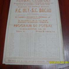 Program FC OLt - SC Bacau - Program meci