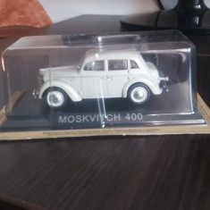 Macheta metal moskvitch 400 + revista masini de legenda nr. 43 - Macheta auto, 1:43