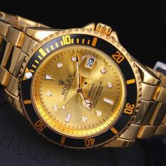 Ceas Barbatesc ROLEX GOLD_Stil Luxury&Elegant, Quartz