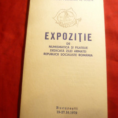 Carnet -Reclama -Expozitia Numismatica - Filatelie -Ziua Armatei RSR 1979, stamp