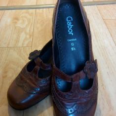 Pantofi din piele firma Gabor marimea 38, 5, sunt noi! - Pantof dama Gabor, Culoare: Maro, Piele naturala, Cu toc
