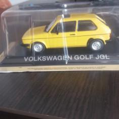 Macheta metal vw golf jgl + revista masini de legenda nr. 51 - Macheta auto, 1:43