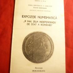 Carnet -Reclama -Expozitia Numismatica -la 9 mai-Independenta Stat 1979