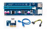 Riser card 1x la 16x, PCI-E PCI Express 1X la 16X Riser Card + USB 3.0 VER 006C