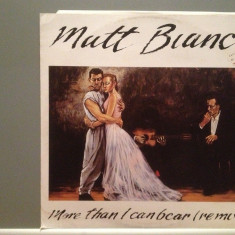 MATT BIANCO - MORE THAN I CAN..(195/WARNER/W.GERMANY) - VINIL Maxi-Single