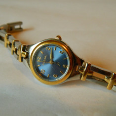 Ceas de dama Fossil otel cadran albastru, cod f21 - Ceas dama Fossil, Casual, Quartz, Inox, Metal necunoscut, Analog